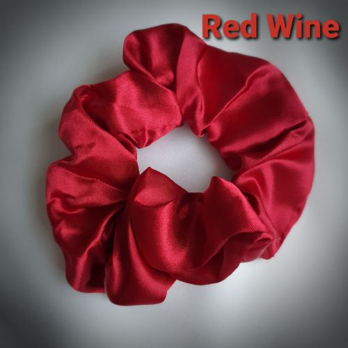 Red Wine Satin Scrunchie